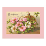 El vintage florece las postales