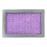 El vintage florece púrpura de la lavanda hebilla de cinturón rectangular