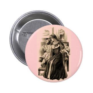 El vintage forma 1900 pin redondo 5 cm