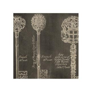 el vintage francés elegante lamentable del país impresiones en madera