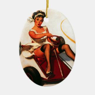 El vintage Gil retro Elvgren va Pin de Kart encima Ornamento Para Reyes Magos