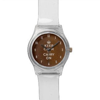 El vintage guarda calma y continúa el reloj elegan
