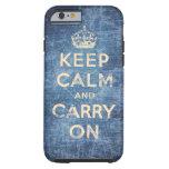 El vintage guarda calma y continúa funda para iPhone 6 tough