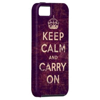El vintage guarda calma y continúa iPhone 5 carcasa