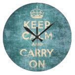 El vintage guarda calma y continúa reloj de pared