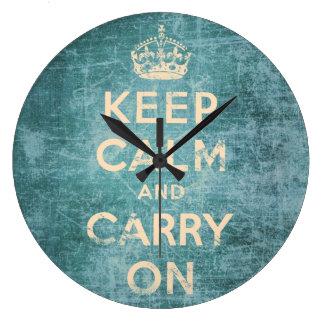 El vintage guarda calma y continúa reloj redondo grande