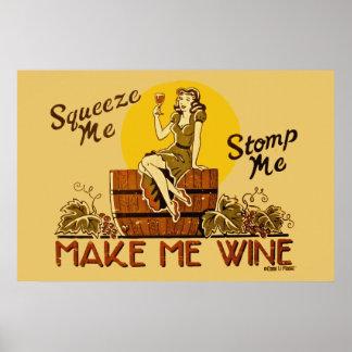 El vintage hace que Wine poster reeditado