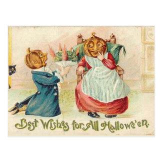 El vintage Halloween del KRW desea la postal