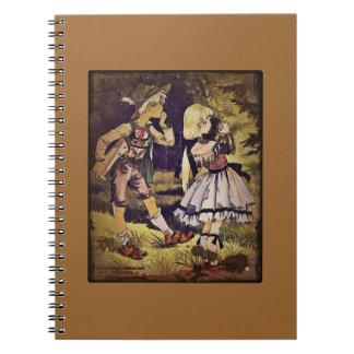 El vintage Hansel y Gretel considera la cabaña Libros De Apuntes Con Espiral