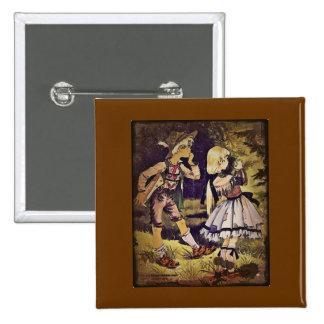 El vintage Hansel y Gretel considera la cabaña Pin Cuadrada 5 Cm