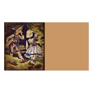 El vintage Hansel y Gretel considera la cabaña Tarjetas De Visita