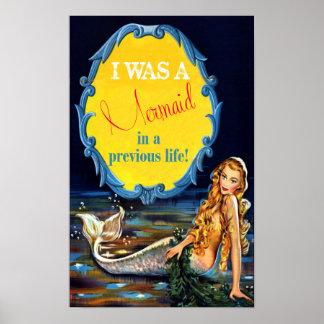 El vintage I era una sirena en un poster anterior