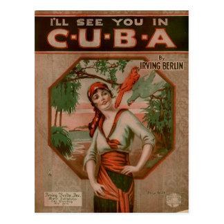 El vintage I le considerará en el viaje de Cuba Tarjetas Postales