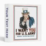 El vintage I le quiere poster del ejército