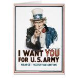El vintage I le quiere poster del ejército Tarjetón