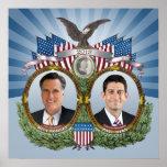 El vintage inspiró a Romney Ryan Jugate Impresiones