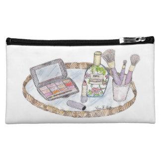 El vintage inspiró el bolso antiguo del maquillaje