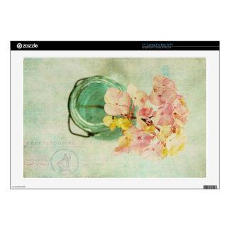 El vintage inspiró el Hydrangea en tarro de 43,2cm Portátil Calcomanías