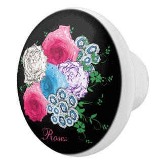 El vintage inspiró el ramo color de rosa floral pomo de cerámica