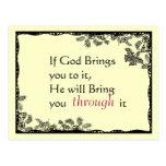 El vintage inspiró la postal de la fe