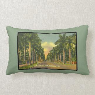 El vintage inspiró las palmeras reales majestuosas almohada