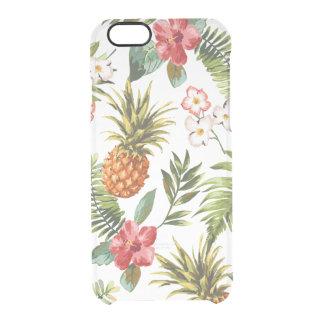 El vintage iphone6 floral tropical despeja el caso funda clearly™ deflector para iPhone 6 de uncommon