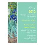 El vintage irisa la fiesta de graduación de las invitaciones personalizada