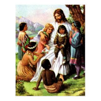 El vintage Jesús ama la postal