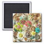 El vintage Jewels el imán floral