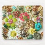 El vintage Jewels Mousepad floral Alfombrilla De Ratón
