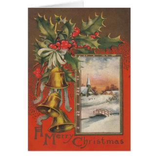 """El vintage """"las Felices Navidad"""" personaliza Tarjeta De Felicitación"""