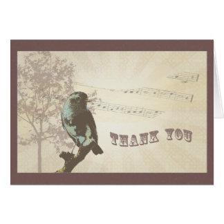 El vintage le agradece cardar tarjeta de felicitación