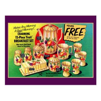 El vintage libera el anuncio determinado del postal