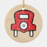 El vintage libera el estacionamiento adorno de navidad