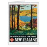 El vintage Marlborough suena Nueva Zelanda Felicitacion