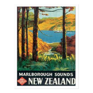 El vintage Marlborough suena Nueva Zelanda Tarjetas Postales