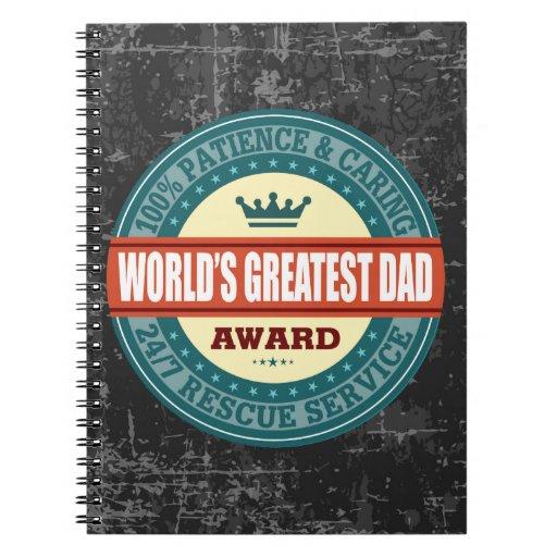 El vintage más grande del papá del mundo cuaderno