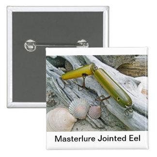 El vintage Masterlure articuló la anguila Pin Cuadrada 5 Cm