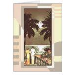El vintage Miami Beach el | del art déco se rubori Tarjetón