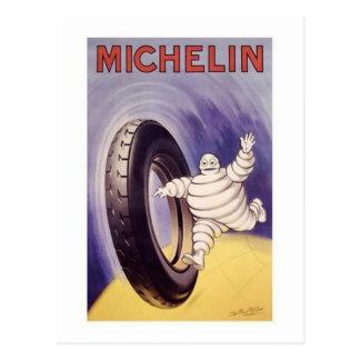 El vintage Michelin cansa el anuncio 2 Tarjeta Postal