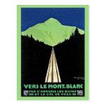 El vintage Mont Blanc Railroad el anuncio del viaj Postales