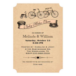 El vintage monta en bicicleta la invitación 2 de