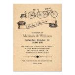 El vintage monta en bicicleta la invitación de la invitación 12,7 x 17,8 cm
