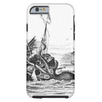 El vintage náutico del pulpo del steampunk kraken funda de iPhone 6 tough