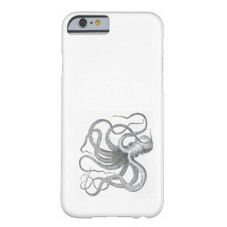El vintage náutico del pulpo del steampunk kraken funda de iPhone 6 barely there