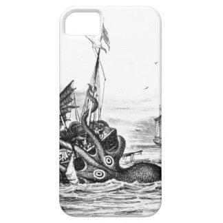El vintage náutico del pulpo del steampunk kraken iPhone 5 carcasas