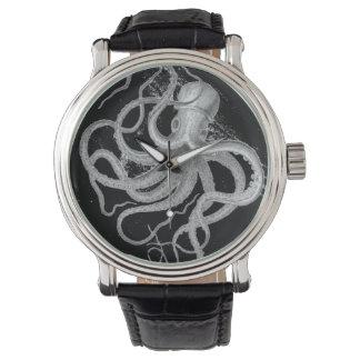 El vintage náutico del pulpo del steampunk kraken relojes