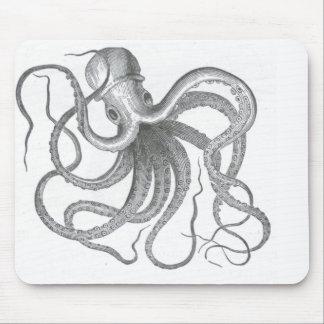 El vintage náutico del pulpo del steampunk kraken tapete de raton