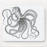 El vintage náutico del pulpo del steampunk kraken  alfombrilla de raton
