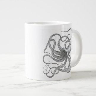 El vintage náutico del pulpo del steampunk kraken taza de café gigante